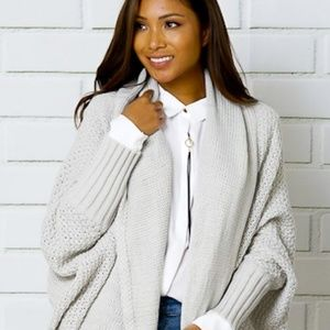 Tops - *SALE!* FAVORITE Knit Dolman Ribbed Cardigan